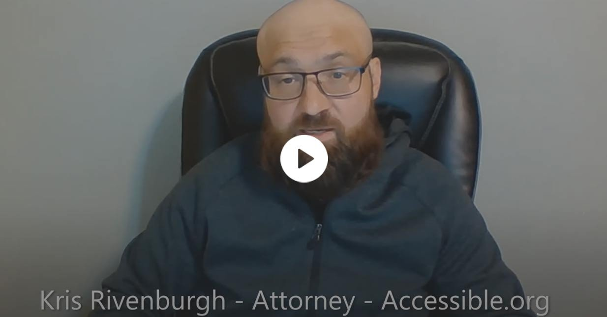 Kris Rivenburgh: ADA (Website) Compliance is Required for Entities with Less Than 15 Employees